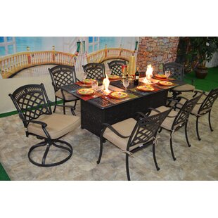 Darby Home Co Jackston 9 Piece Sunbrella Dining Set with Cushions