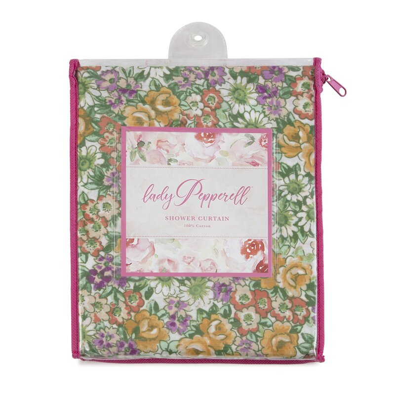 Lady Pepperell 100 Cotton Floral Single Shower Curtain Wayfair