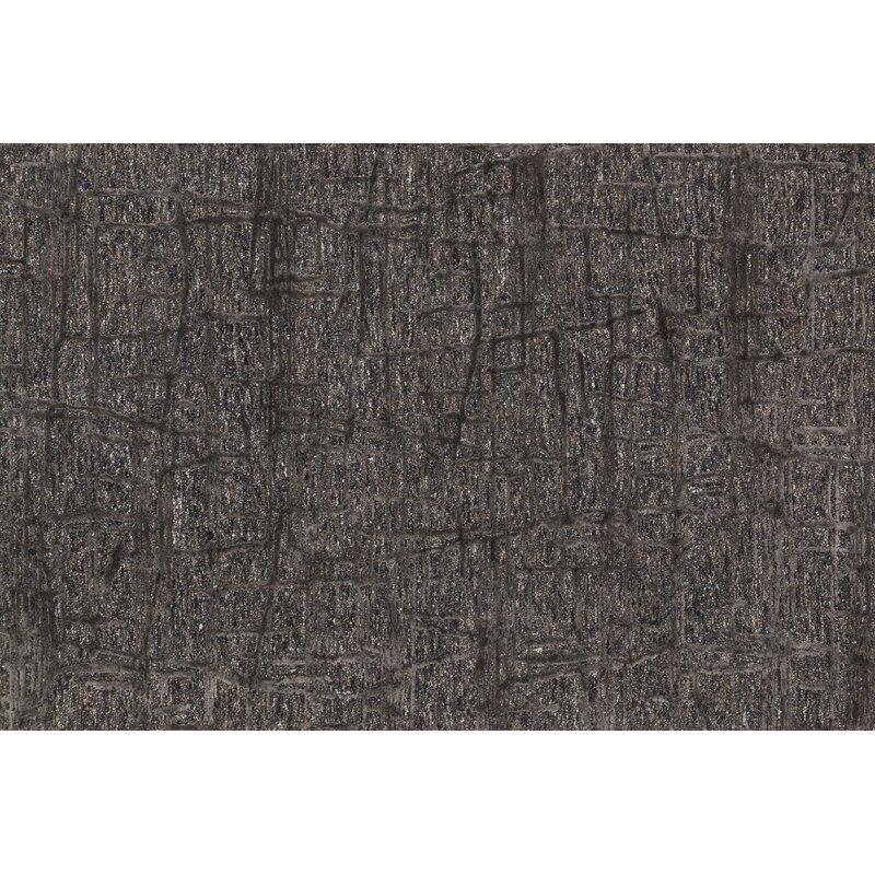 Orren Ellis Rusch Hand Tufted Dark Gray Area Rug Reviews Wayfair
