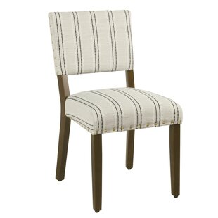 Camilo Stripe Upholstered Dining Chair (Set Of 2) by Gracie Oaks 2019 Sale