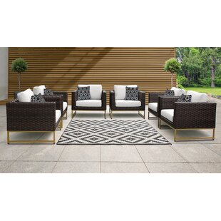 Barcelona Patio Chair with Cushions (Set of 6)