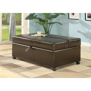 Aureliana Leather Ottoman by Latitude Run