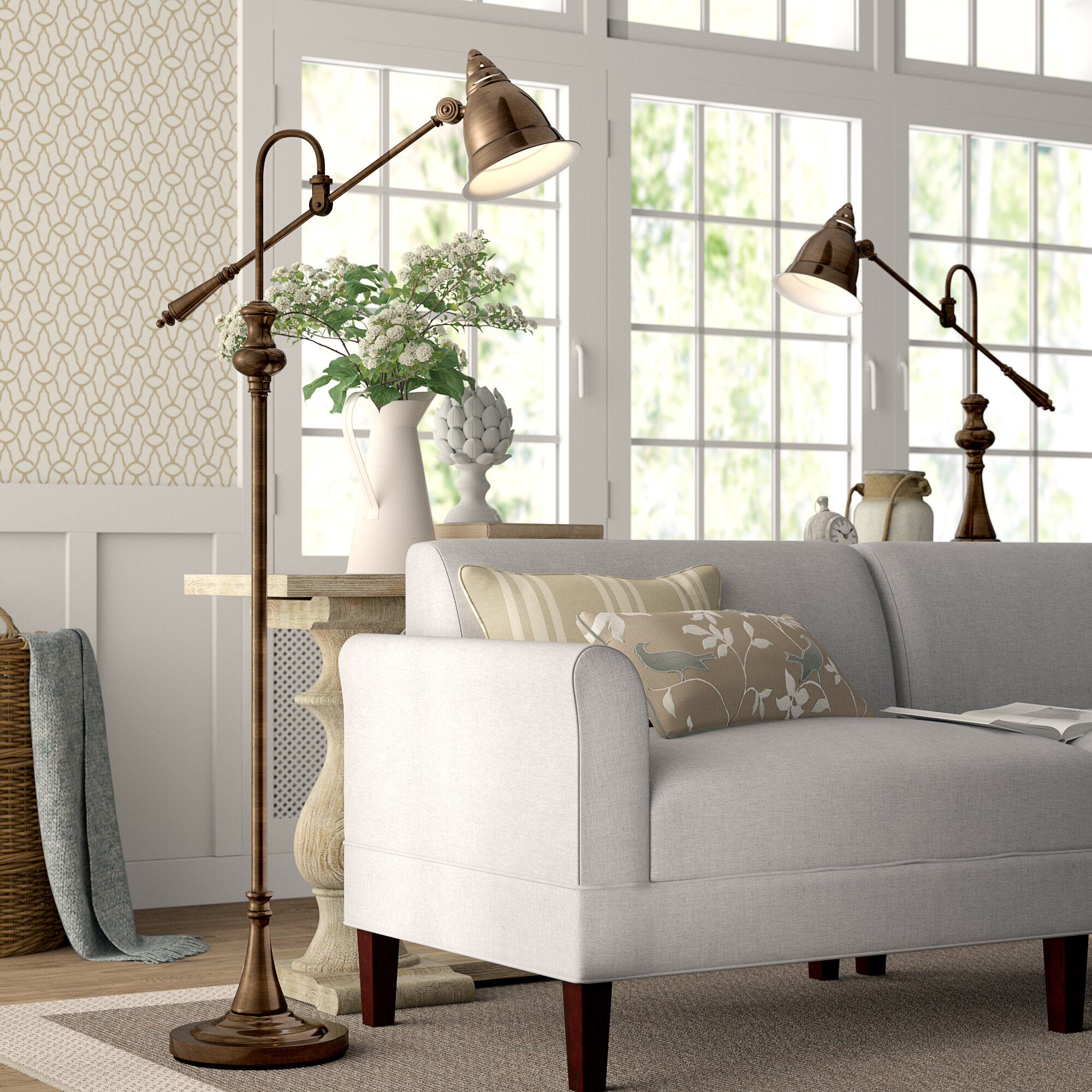 Birch Lane Heritage Ginevra 2 Piece Floor And Table Lamp