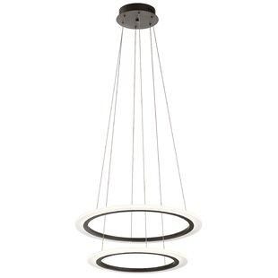 Orren Ellis Baillie 2-Light LED Geometric Chandelier