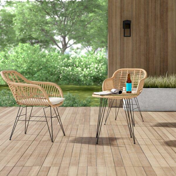 Modern Contemporary 3 Piece Patio Furniture Sets Allmodern