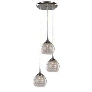 Bugbee 3-Light Pendant by Charlton Home