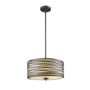Z-Lite Cotner 3-Light Drum Pendant