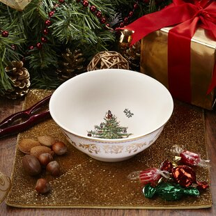 Spode Christmas Tree Cereal//Oatmeal Bowl Set of 4