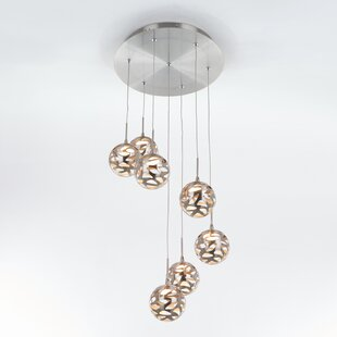 Amundson Suspended 7-Light LED Cluster Pendant by Ivy Bronx
