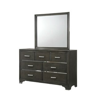 Latitude Run Lawlor 7 Drawer Dresser with Mirror Image