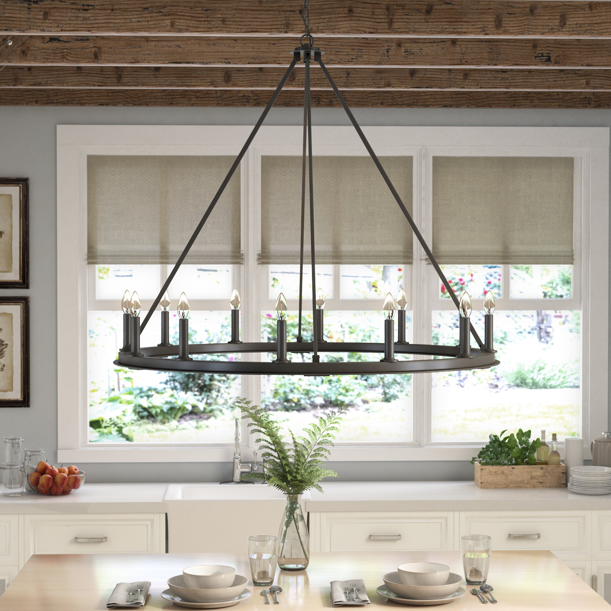 Shayla 12 Light Candle Style Chandelier