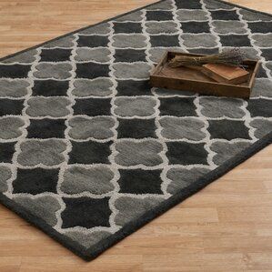 Brighton Hand Tufted Black Gray Area Rug