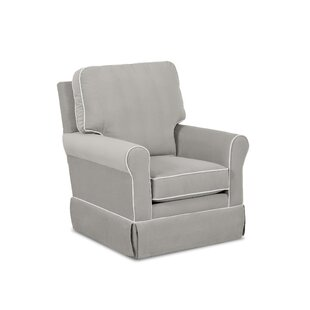 Bridgeport Swivel Glider with Contrasting Welt by Wayfair Custom Upholstery™