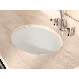 Inexpensive American Imaginations Ceramic Oval Undermount Bathroom Sink with Overflow By American Imaginations