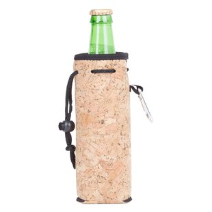 Neoprene Cork Bottle Cooler with Carabiner
