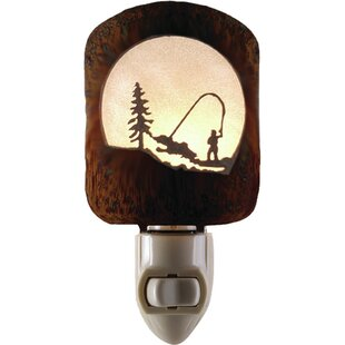 Searching for Fly Fishing Scene Night Light By Lazart