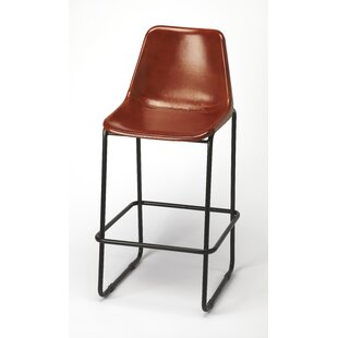 Adelbert Leather 28 Bar Stool