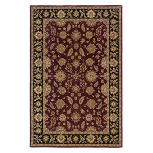 Opulent Burgundy/Brick Silk Area Rug