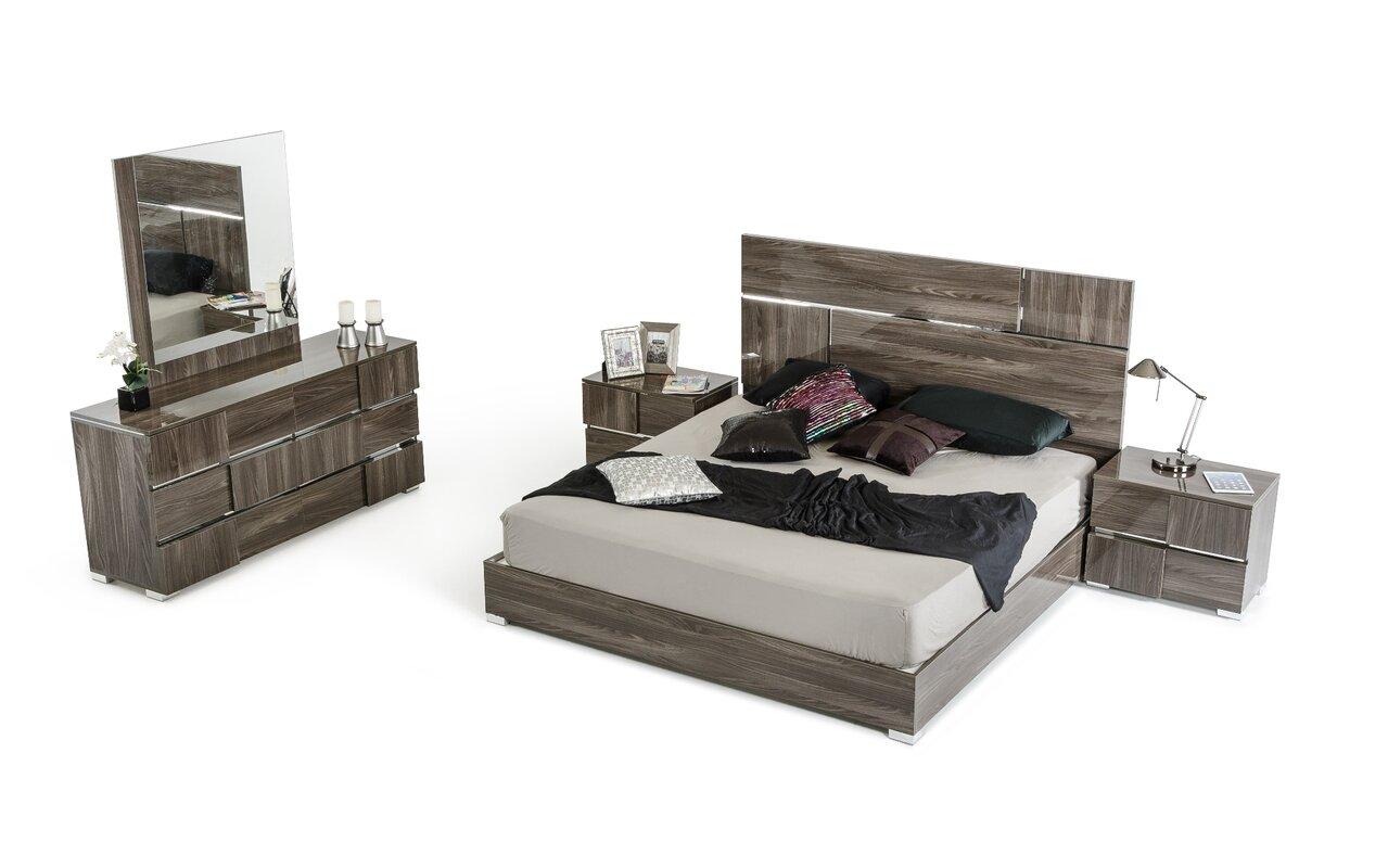 Falbo Platform 5 Piece Bedroom Set. Modern Grey Bedroom Sets   AllModern