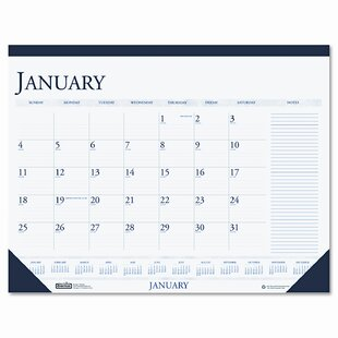 Monthly Desk Pad Calendar with Large Notes Section by House of Doolittle