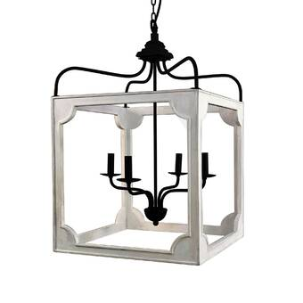 Gracie Oaks Detroit 2 Light Lantern Rectangle Pendant Wayfair