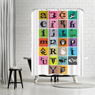 East Urban Home Amanda Shufflebotham Alphabet Shower Curtain