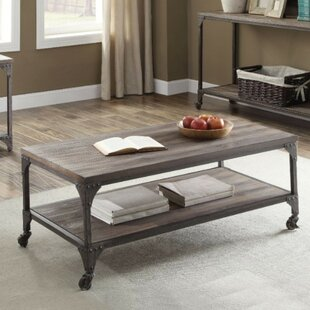 Camas Industrial Rectangular Wood and Metal Coffee Table by Williston Forge