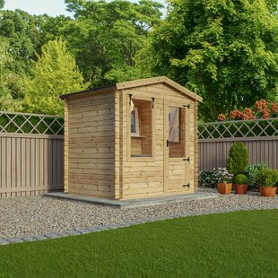 Review 8 X 7 Ft. Tongue & Groove Log Cabin