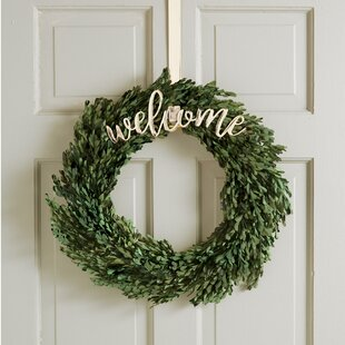 Welcome Wreath Hanging Accessory