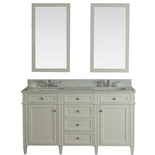 Costillo 60 Double Bathroom Vanity Set with Mirror by Red Barrel Studio