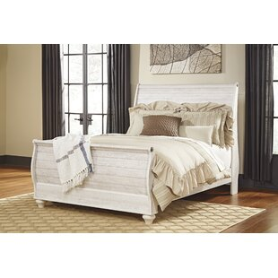 Naples Sleigh Bed by Three Posts