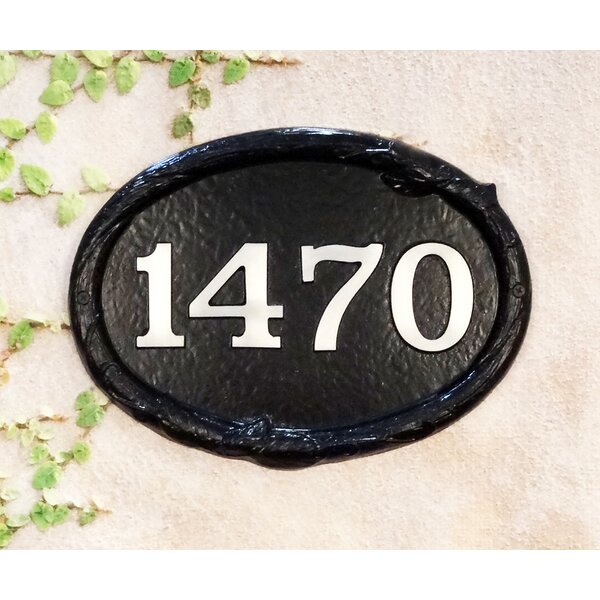 Special Lite Products Floral 1 Line Wall Address Plaque Wayfair