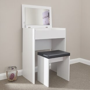 Discount Maisie Compact Dressing Table Set With Mirror