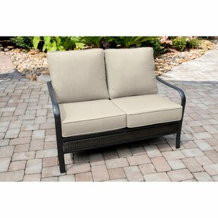 Gaydos Patio Loveseat with Sunbrella Cushions by Charlton Home