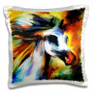 Decor Multi Color.-Pillow Case 3dRose Running Horse pc/_221521/_1 16 by 16