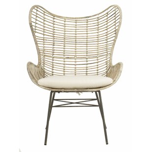 Low priced Brindley Rattan Wingback Chair by Bungalow Rose Reviews (2019) & Buyer's Guide
