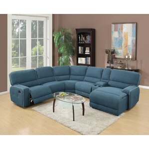 Becker Home Theater Reclining Sectional by A..