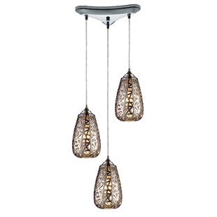 Freeda 3-Light Pendant by Bungalow Rose