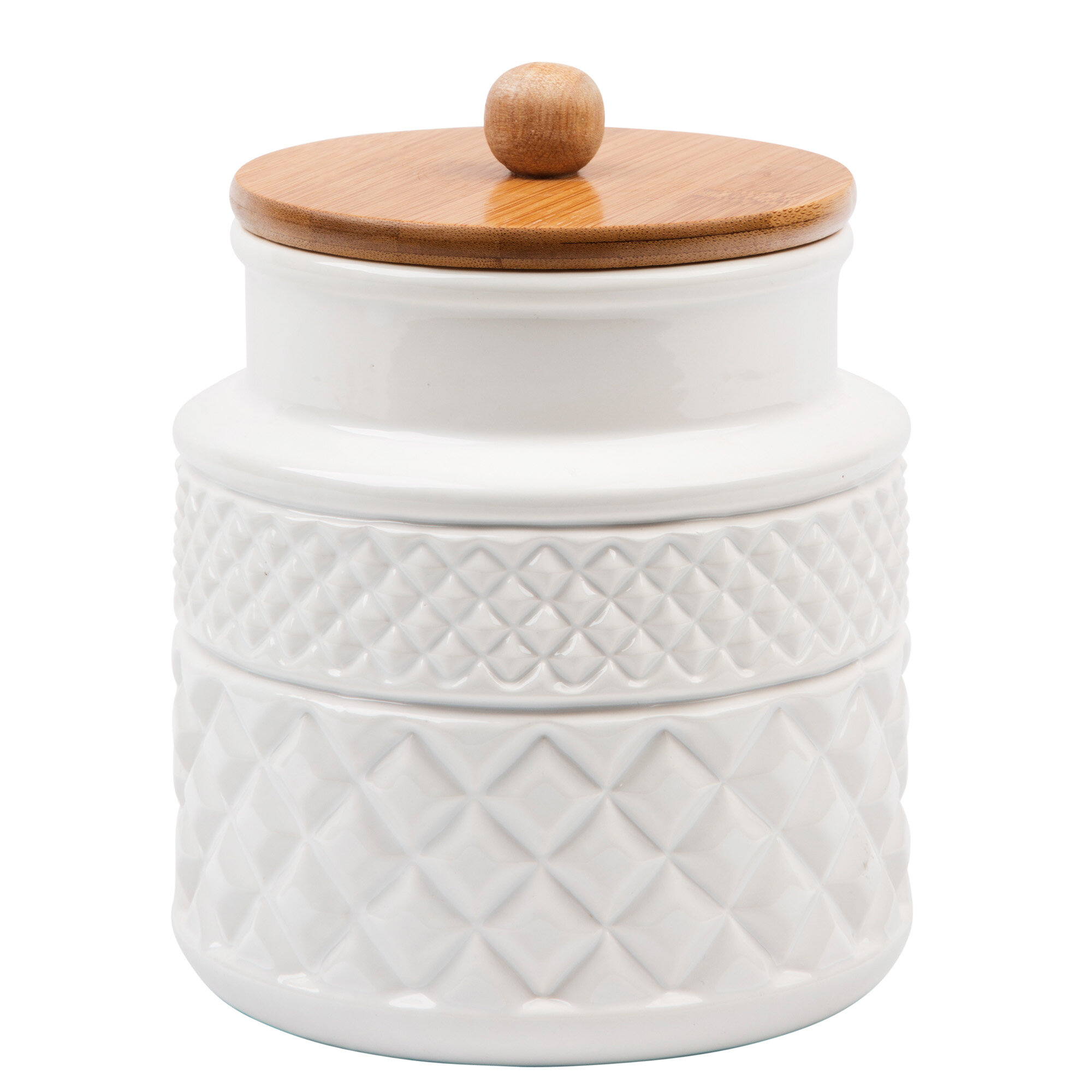 Facet Embossed Kitchen Canister