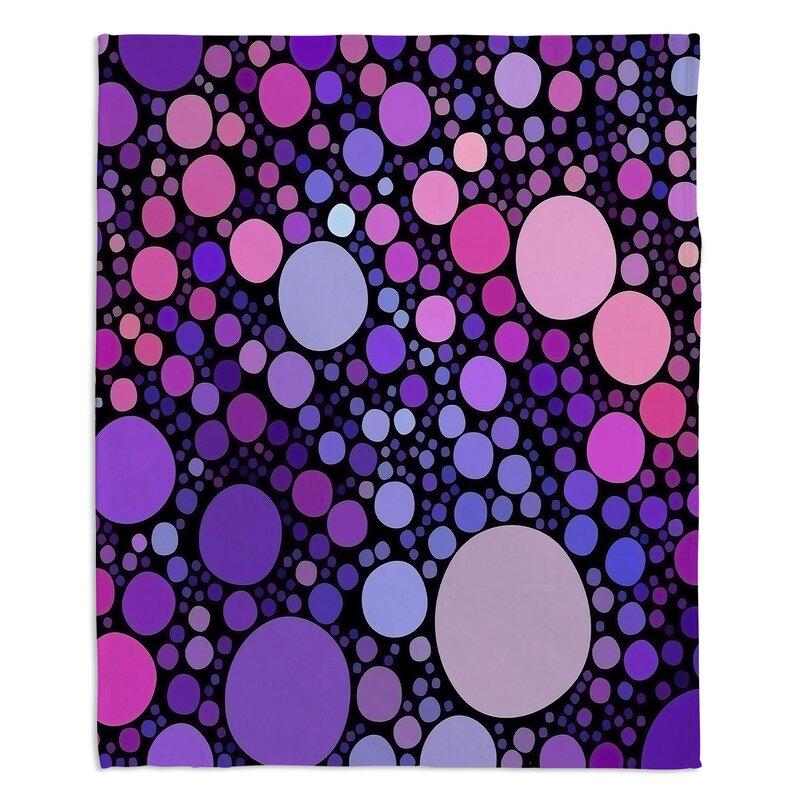 Red Barrel Studio Mikayel Cool Dots Orchid Throw Wayfair