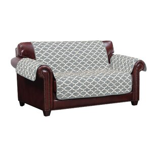 Reversible Water Resistent Box Cushion Loveseat Slipcover