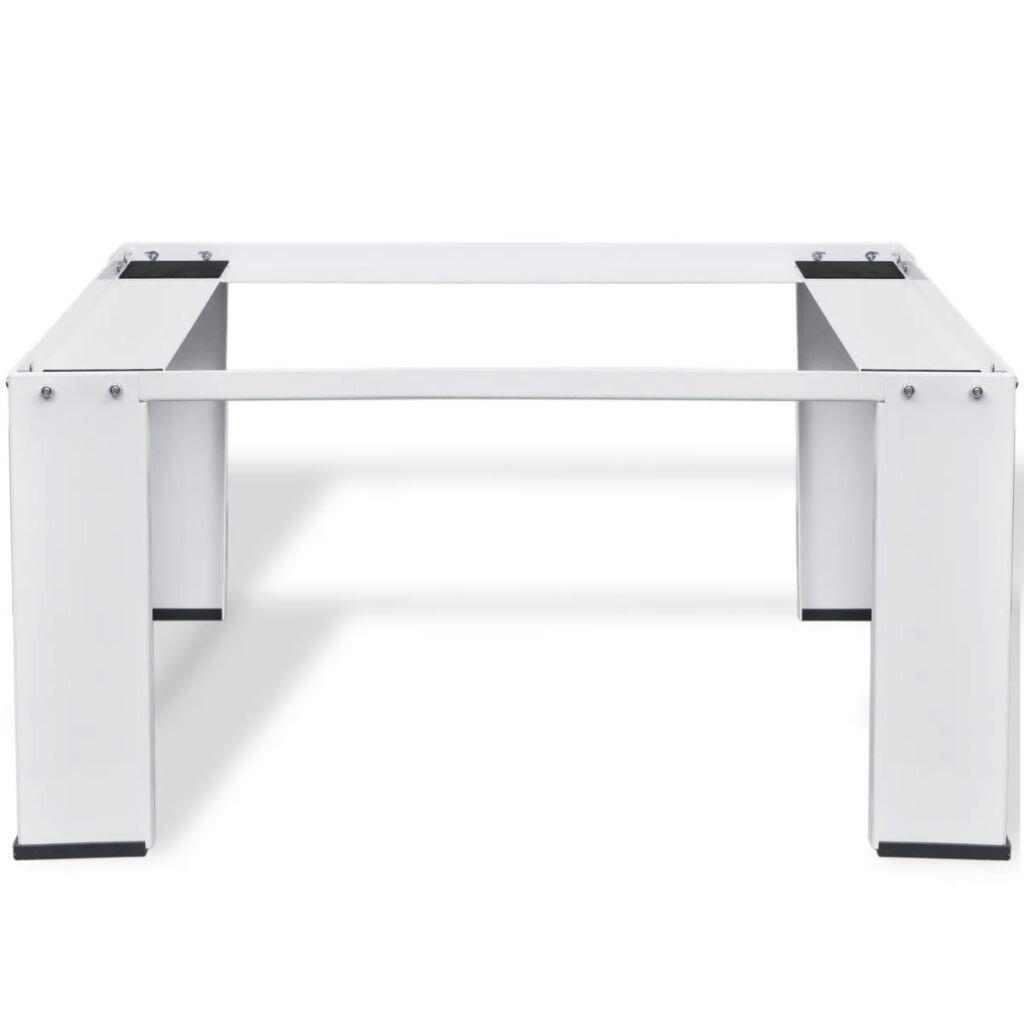 vidaXL Pedestal Doble de la Lavadora y la Secadora Soporte Mueble Base Est/ándar Elevador Universal Resistentes Estabilizador Plataforma Blanco