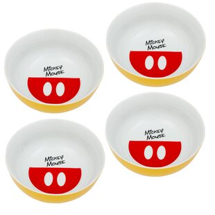 Disney Mickey Mouse Cereal Bowl (Set of 4)