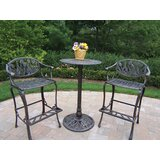 Farrior 3 Piece Bar Height Dining Set