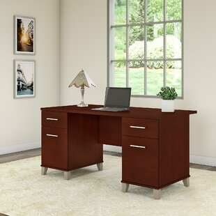 Kirchoff 4 Drawer Executive Desk by Ebern Designs