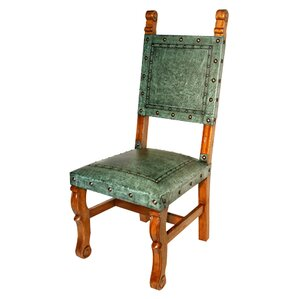 Colonial Spanish Heritage Leather Side Chair..
