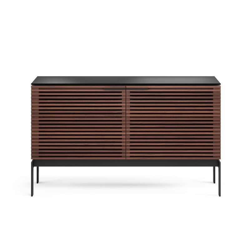 """BDI Corridor TV Stand for TVs up to 60""""  Color: Charcoal Stained Walnut"""