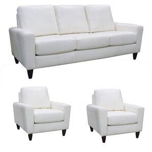 Atlanta Leather 3 Piece Living Room Set by C..