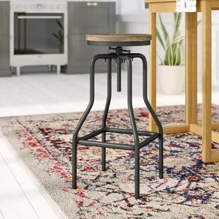 Correa Height Adjustable Swivel Bar Stool By Williston Forge