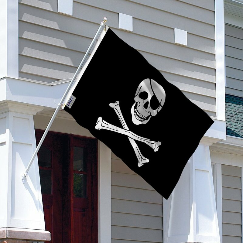 Anley Pack Of 2 Fly Breeze 3X5 Foot Jolly Roger Flag With